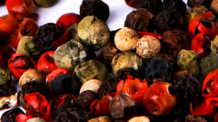 Dry allspice different pepper Stock Footage