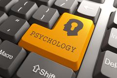Keyboard with Psychology Button. Stock Illustration