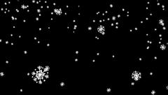SnowFlakes Pack 5 In 1 (Part 4) Stock Footage
