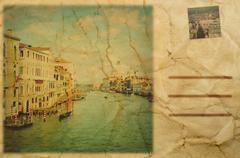 Postikortti Venetsia, Italia Piirros