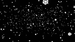 SnowFlakes Pack 5 In 1 (Part 7) Stock Footage