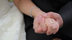 Wedding handshake - stock footage