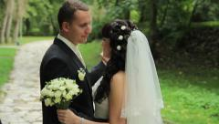 Wedding dance in the summer Stock Footage