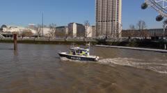 Thames Police boat. Stock Footage