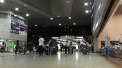 Kansai Airport Railway Station Osaka Japan 2 Stock Footage