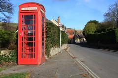 phonebox callbox british - stock photo