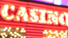 Casino neon sign 25p Stock Footage