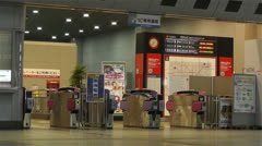 Kansai Airport Railway Station Osaka Japan 8 Stock Footage