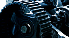 Car engine inside view Stock Footage