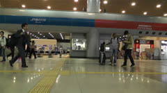 Kansai Airport Railway Station Osaka Japan 9 Stock Footage