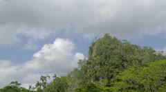 Time-lapse of clouds passing by a mountain in Viñales, Cuba Stock Footage