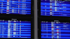 Kansai Airport Timetable Osaka Japan 1 Stock Footage