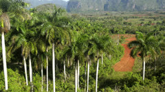 View of hills and mountains in Vinales, Cuba Stock Footage