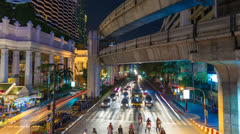 1080 - 4K- TRAFFIC IN BANGKOK - CENTRAL WORLD Stock Footage