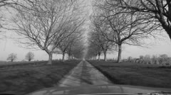 English Country Drive. Timelapse. B&W. Stock Footage