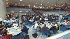 High School Cafeteria 1 - stock footage