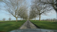Stock Video Footage of English Country Drive. Timelapse.