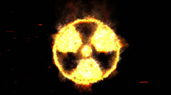 Burning Radioactive Sign - stock footage