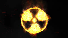 Radioactive Sign with Smoke and Sparks Stock Footage