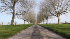 English Country Drive. Static shot. Stock Footage