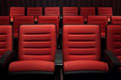 Cinema seats Stock Photos