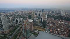 Aerial wiev istanbul Stock Footage