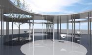 Interior of conceptual architecture Stock Illustration
