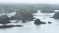 Misty foggy California coastal Pacific Ocean HD 6193 Stock Footage