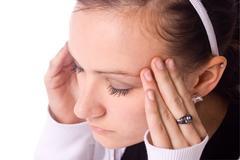 Teenager with a headache Stock Photos
