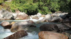 Mountain river in the Himalayan mountains Stock Footage