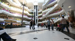 Time lapse people in the mall 1 Stock Footage
