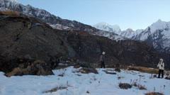 Machapuchare, Annapurna panorama view Stock Footage