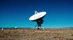 Very Large Array Radio Observatories - Time Lapse - 4k - stock footage