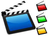 Stock Illustration of digital film slate