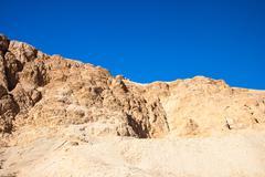 Sand dunes and rocks, Sahara Desert Stock Photos