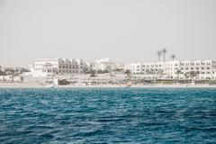 Red Sea coast line near Hurhada Stock Photos