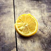 withered half lemon - stock photo