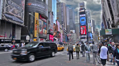 Times Square Intersection - stock footage