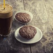 Coffee and cookies on table Stock Photos