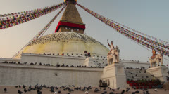 Boudha stupa in Nepal. Stock Footage