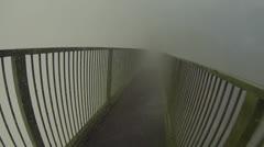 Hand Held Walk Over Victoria Falls Bridge Stock Footage