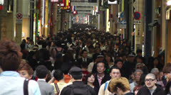 Namba District Osaka Japan 43 crowd slow motion Stock Footage