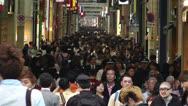 Stock Video Footage of Namba District Osaka Japan 43 crowd slow motion