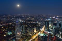 aerial wiev istanbul - stock photo