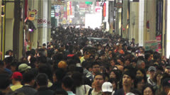 Namba District Osaka Japan 46 crowd slowmotion Stock Footage