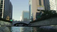 Cheonggyecheon low Stock Footage