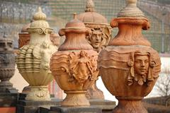 Amphora gardens in troja castle in prague Stock Photos