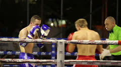Muay Thai Kick Boxers - Close Up - stock footage