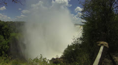 Mist Rising Over Victoria Falls - stock footage