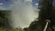 Stock Video Footage of Mist Rising Over Victoria Falls
